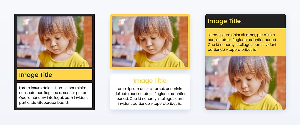 Animated gif showing image box styles settings