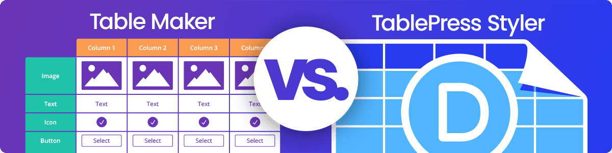 Divi-Modules – Table Maker and TablePress Styler feature images