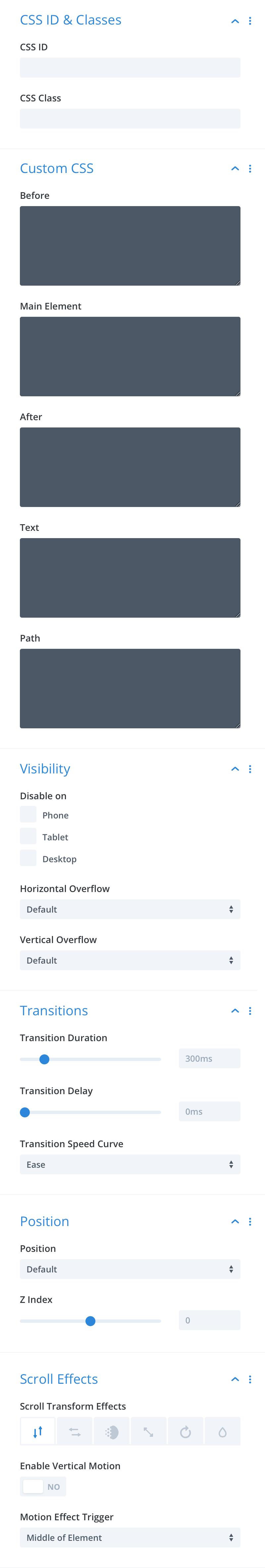 Divi-Modules – Text-On-A-Path advanced settings
